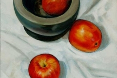 Apples with Stone bowl I